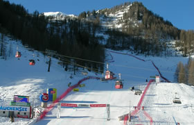 View of the World Cup Arena in Zauchensee